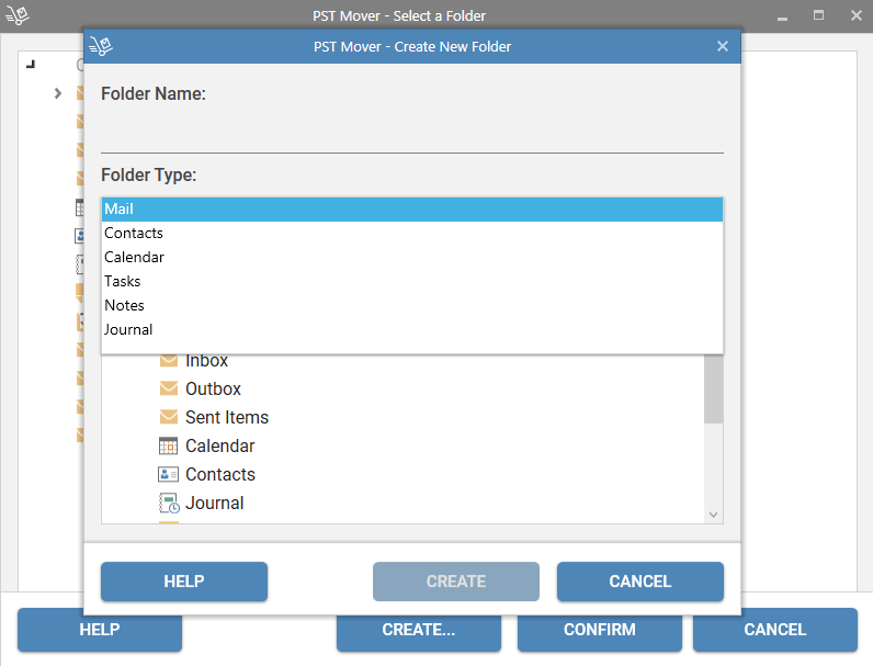Create a New folder to transfer (Transfer data to selected folder)